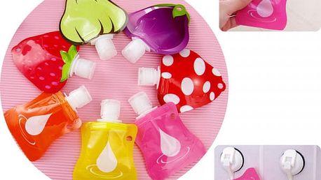 Roztomilé cestovní láhve na kosmetická mléko, šampon, koupel nebo sprchový gel