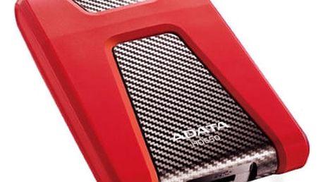 ADATA HD650 - 1TB, červená - AHD650-1TU3-CRD