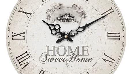 Světlé nástěnné hodiny Premier Housewares Home Sweet Home