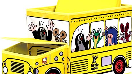 BINO Krtek krabice na hračky – autobus