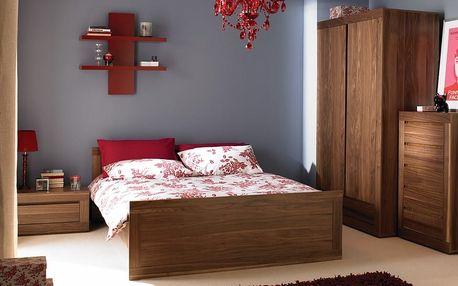 Dýhovaná manželská postel CHUNKY 160x200 cm