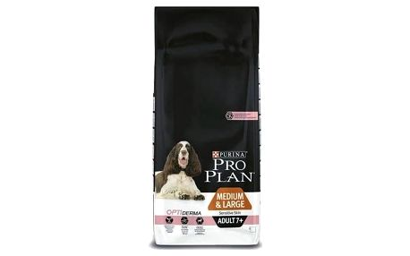 Granule Purina Pro Plan MEDIUM & LARGE ADULT 7+ Sensitive Skin 14 kg + Doprava zdarma