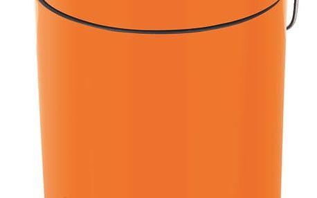 Oranžový odpadkový koš Spirella Sydney, 3 l