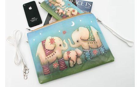 Fashion Icon Psaníčko Etno sloníci pouzdro na tablet