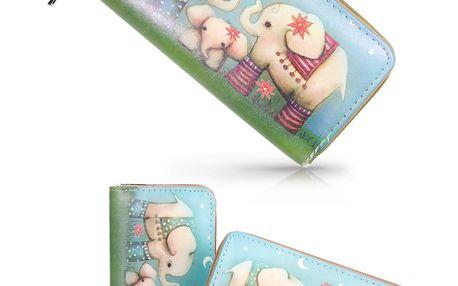 Dámská peněženka s potiskem sloníků