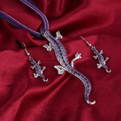 Sada šperků pro milovníky ještěrek