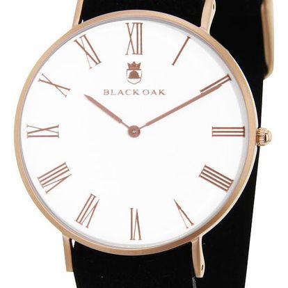 Černé pánské hodinky Black Oak Elegant - doprava zdarma!