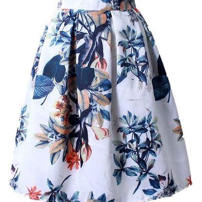 Skládaná delší sukně - vzor 19
