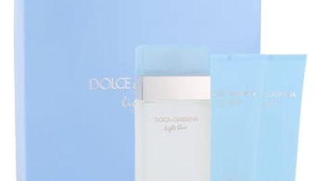 Dolce&Gabbana Light Blue dárková kazeta pro ženy toaletní voda 100 ml + tělový krém 100 ml + sprchový gel 100 ml