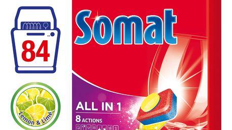 SOMAT All in One Lemon & Lime 84 ks