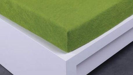XPOSE ® Froté prostěradlo Exclusive dvoulůžko - zelená 160x200 cm