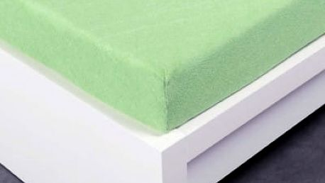 XPOSE ® Froté prostěradlo Exclusive dvoulůžko - světle zelená 180x200 cm