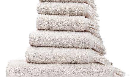 Set 8 krémových bavlněných ručníků a osušek Casa Di Bassi Bath