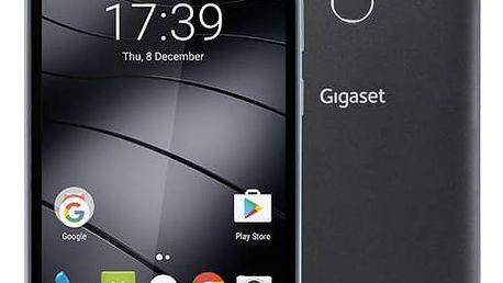 Mobilní telefon Gigaset GS160 (S30853-H1501-R101) černý SIM s kreditem T-Mobile 200Kč Twist Online Internet (zdarma)