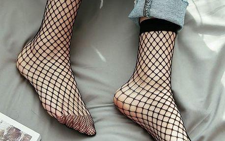 Elegantní síťované ponožky v černé barvě - dodání do 2 dnů