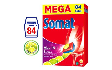 SOMAT All in One Lemon & Lime 84 ks