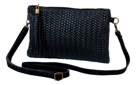 Černá kabelka z pravé kůže Andrea Cardone Michele
