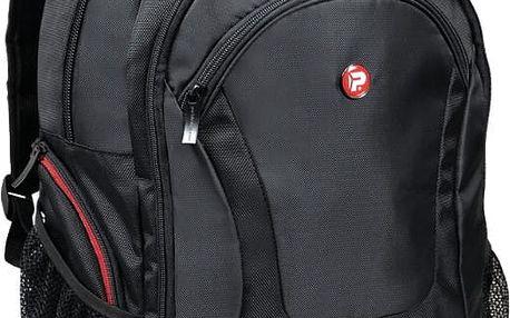 Port Designs COURCHEVEL batoh na 17,3'' notebook a 10,1'' tablet, černo-červená - 160511 + Zdarma RP0292 PORT CONNECT Naos, bezdrátová myš, černá (v ceně 259)