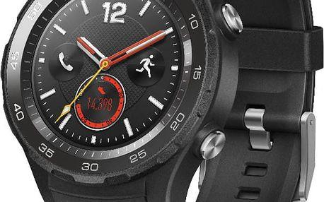 Huawei Watch 2, bluetooth a SIM, černá - WA-WATCHW2BOM