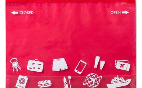 Víceúčelová taštička v červené barvě - dodání do 2 dnů