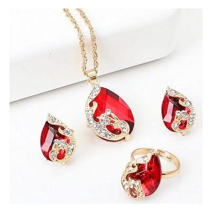 Sada dvoubarevných šperků ve tvaru kapky