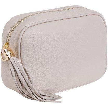 Béžová kabelka z pravé kůže Andrea Cardone Pezzo - doprava zdarma!