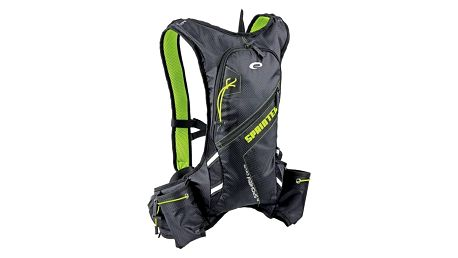 Batoh sportovní Spokey SPRINTER cyklistický a běžecký 5l, voděodolný černý/zelený