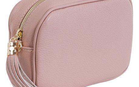 Pudrově růžová kabelka z pravé kůže Andrea Cardone Pezzo - doprava zdarma!