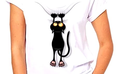 Dámské tričko s motivy kočiček - 11 variant