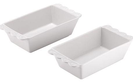 Sada 2 bílých porcelánových forem na pečení Ladelle Bake