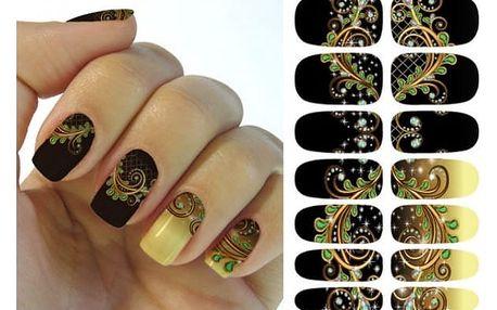 Samolepky na nehty s krásnými a výraznými vzory