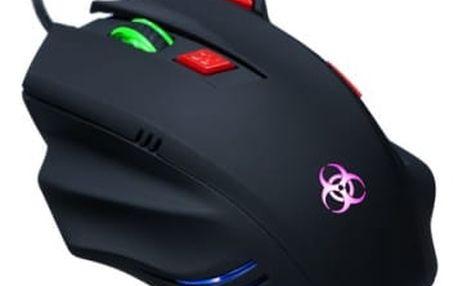Myš Connect IT Biohazard (CI-191) černá / laserová / 7 tlačítek / 3200dpi