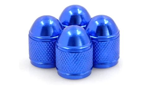 Náhradní barevné hliníkové čepičky na ventilky - 4 ks - dodání do 2 dnů