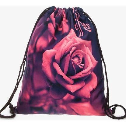 Vak na záda s motivem rudé růže