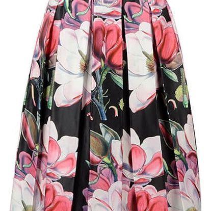 Dámská midi sukně s květinovými vzory - 6 variant