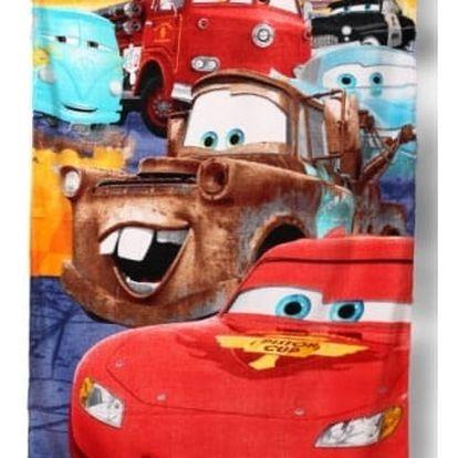 Setino Dětská osuška CARS - BLESK S PŘÁTELI 70x140 cm