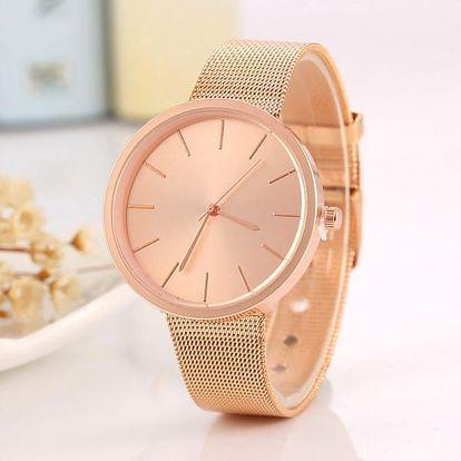 Stylové kovové hodinky v luxusním provedení - 3 barvy