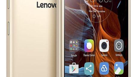 Mobilní telefon Lenovo K5 Dual SIM, zlatý