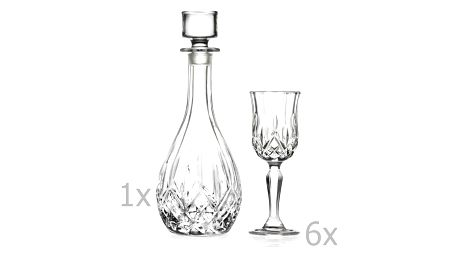 Set karafy a 6 sklenic na likér RCR Cristalleria Italiana Nunzia