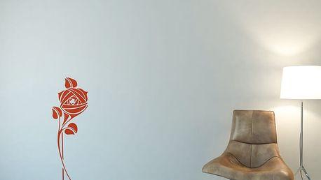 GLIX Květinová dekorace - samolepka na zeď Oranžová 30 x 80 cm