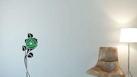 GLIX Květinová dekorace - samolepka na zeď Černá a zelená 30 x 80 cm