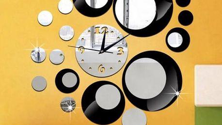 Zrcadlové hodiny - samolepka na zeď