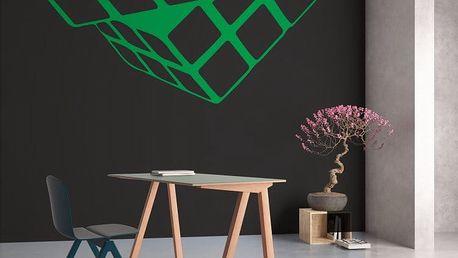 GLIX Rubikova kostka - samolepka na zeď Světle zelená 30 x 28 cm