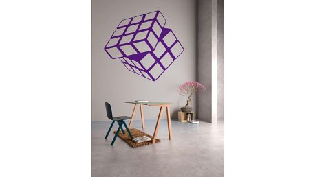 GLIX Rubikova kostka - samolepka na zeď Fialová 30 x 28 cm