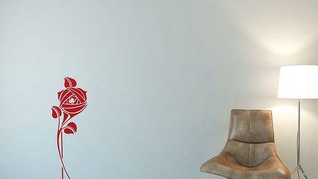 GLIX Květinová dekorace - samolepka na zeď Světle červená 30 x 80 cm