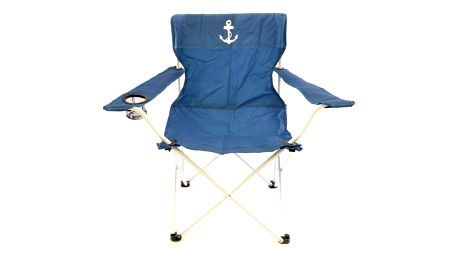 Skládací židle modrá - lodní kotva