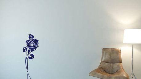 GLIX Květinová dekorace - samolepka na zeď Modrá 30 x 80 cm