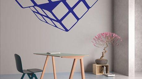 GLIX Rubikova kostka - samolepka na zeď Modrá 30 x 28 cm