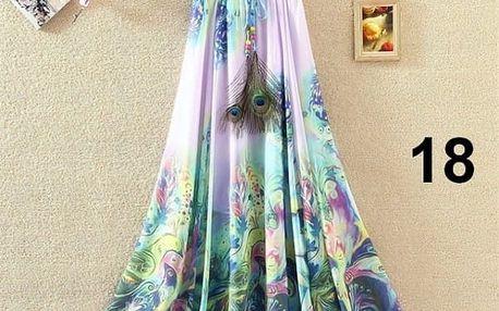 Lehoučká dlouhá sukně na jaro i léto - varianta 18 - dodání do 2 dnů