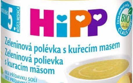 HIPP BIO zeleninová polévka s kuřecím masem (190 g) – maso-zeleninový příkrm
